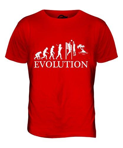 CandyMix Beachvolleyball Evolution Des Menschen Herren T Shirt Rot