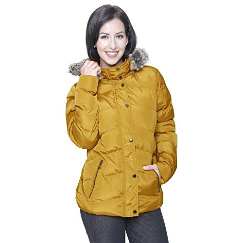a8c285bed Ladies Womens Spindle Designer Faux Fur Hooded Short Jacket Quilted Puffer  Padded Coat Zip Pockets