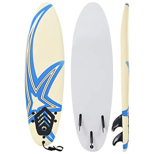 vidaXL Tabla de Surf 170 cm Estrella Deporte Acuático Exterior Navegación Mar