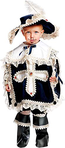 Carnevale Venizano CAV50563-2 - Kleinkindkostüm MOSCHETTIERE Prestige NEONATO - Alter: 0-3 Jahre - Größe: 2