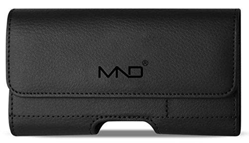 Oppo F3 Plus Hülle, Premium Leder Wallet Pouch Gürtelclip Case für Oppo F3 Plus (nur Größe für Handy, Nicht für Handys, mit Hülle oder Haut) – mit Kartenhalter – Schwarz
