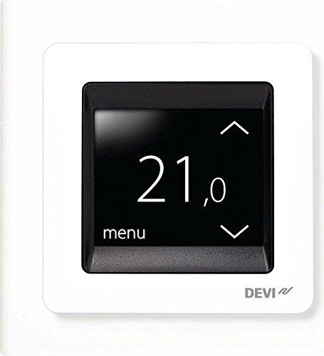 Devi Up Uhrenthermostat Devireg Touch M Rahm 16a 230v