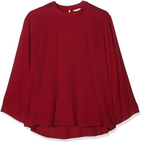 ESPRIT 106EE1F036, Camicia Donna, Rosso (Garnet Red), 44