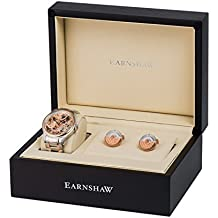 Thomas Earnshaw Bauer - Reloj de pulsera mecánico con caja de regalo para hombre, color oro rosa / bicolor