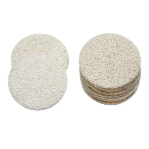 SUPVOX 18 stücke Luffa Pad Schwamm Wäscher Cellulose Gesicht Körper Dusche Bad Spa Peeling Pads Make-Up Schwämme Entferner Pad für Frauen (5 cm) (Gesichts-wäscher-schwamm)