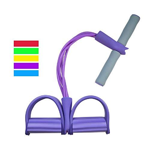 ZXJOY Körpermitte & Bauch Trainer, Ruderschlauch, Shape-Up Trainer, Zugseil, Fitness-Ausrüstung, Boot, Rudern, Bauchmuskel, Training, Erweiterung, Unisex, violett