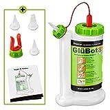 Pinava® Leimflasche - Original GluBot (ca. 500ml) von FastCap [NEU] Pinava Edition 8er Set - Sauberes & Präzises Auftragen von Holzleim - Leimspender leer inkl. 4 Spitzen - für Leim & Klebstoffe