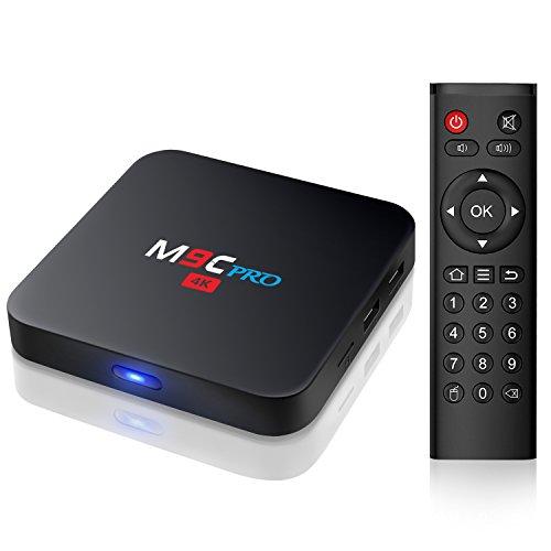 Smart TV Box M9C Pro Android TV Box unterstützt 4k-100M LAN / HDMI / USB Android box