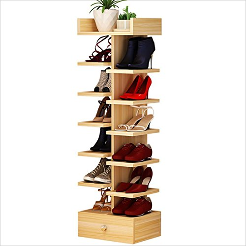 olzschuhregal Multi-Layer Home Storage Rack Stereo Schuhregal, Holz Farbe 40 cm * 30 cm * 125 cm ()