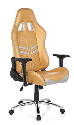 Gaming – Silla/Oficina Silla League Pro Piel Sintética con 180 ° de respaldo y reposabrazos regulables, HJH Office