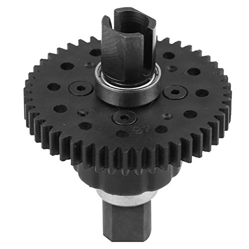 RC Differential Gear, Plastic Metal Model Vehicle Accessory Differential Medium for RC Car (48T 1.0Mo, Nylon Gear)