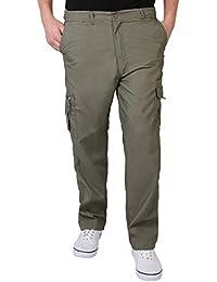 KRISP® Homme Pantalon Style Cargo Militaire Ample Confortable Combat Casual Travail