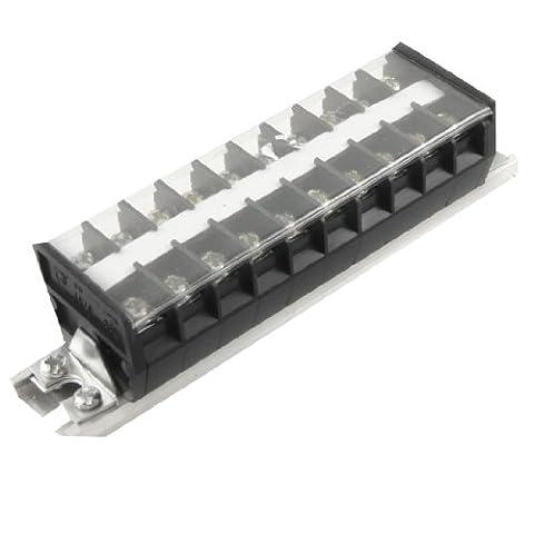 DIN Rail Base Double rangée10 Position Couverte de vis Plaque à borne 660V 20A