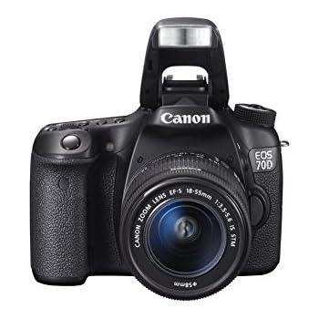 Canon EOS 70D + 18-55 STM - Cámara digital (20.2 MP, SLR Kit, CMOS ...