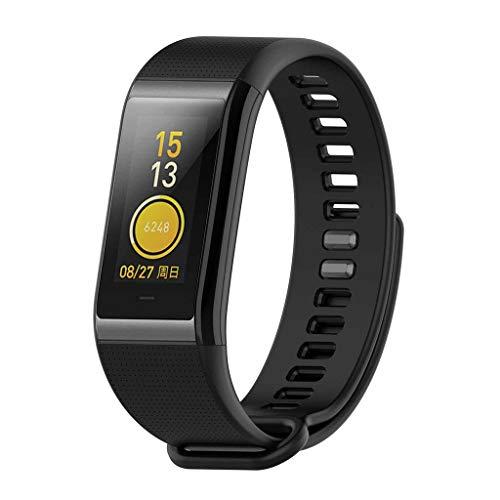WAOTIER für Xiaomi Huami Amazfit Band Ersatzband Silikon Armband mit Kleiner Plaidmuster Armband für Xiaomi Huami Amazfit COR Midong Band mit Schnellverschluss Wasserdichter Armband (Schwarz)