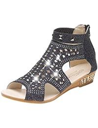 Chaussures à fermeture éclair gris perle femme
