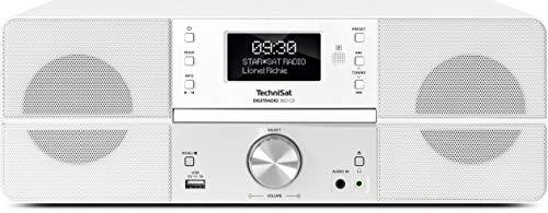 TechniSat Digitradio 360 CD DAB Radio -Kompaktanlage (DAB+, UKW, CD-Player, USB, AUX-Eingang, Kopfhöreranschluss, Wecker, Display, 10 W RMS) weiß