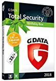 G DATA Total Security 2018 'Birthday Box' für 1 Windows-PC und 2 Android-Geräte | 1 Jahr | Trust in German Sicherheit