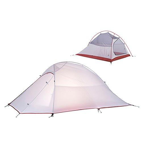 2 Person Tende Ultralight Impermeabile Tende Silicone Fabric 4 season Double-layer Tent (silicone fabric)