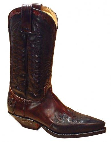 Sendra Boots 2476 schwarz-cherry Gr. 44,5