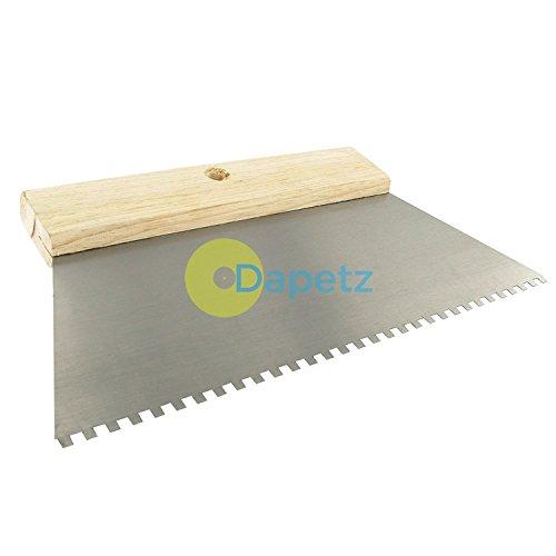 Dapetz Adhésif Peigne 4mm Dents Sol Carrelage Mural Joint Plâtre épandeur DIY - 250mm Long