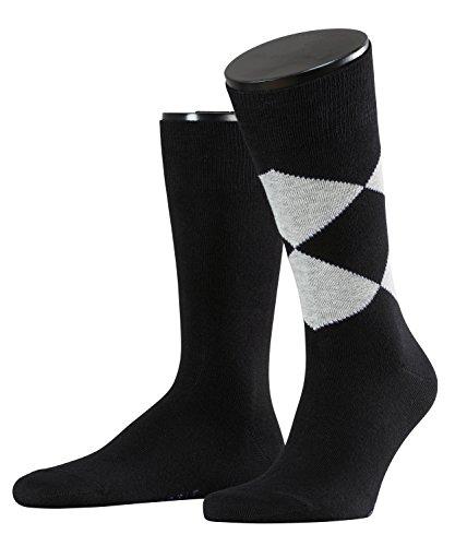 ESPRIT Herren Socken New Rhomb Doppelpack, Gr. 39/42, Schwarz (black 3000)
