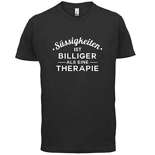 Süssigkeiten ist billiger als eine Therapie - Herren T-Shirt - 13 Farben Schwarz
