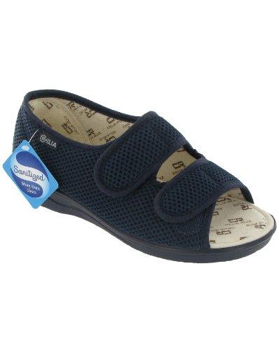 Sandales de coupe large Mirak Celia Ruiz 214 pour femmes (43 EUR) (Bleu marine)