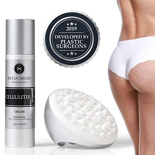 CellulitiX Kit Crema Anticellulite + Massaggiatore. Realizzato da Chirurghi Plastici. Elimina la Cellulite su Glutei e Cosce.