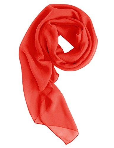 Dresstells Chiffon Schal Stola für Abendkleider in verschiedenen Farben Red 180cmX72cm