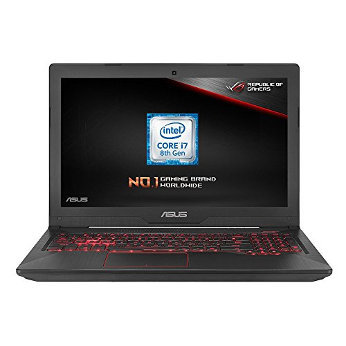 ASUS FX504GE-DM176T 15.6-inch Full HD Gaming Laptop (Intel i7-8750H, 8 GB RAM, 1 TB HDD + 128 GB SSD, Dedicated Nvidia GTX 1050Ti Graphics, Windows 10), Black