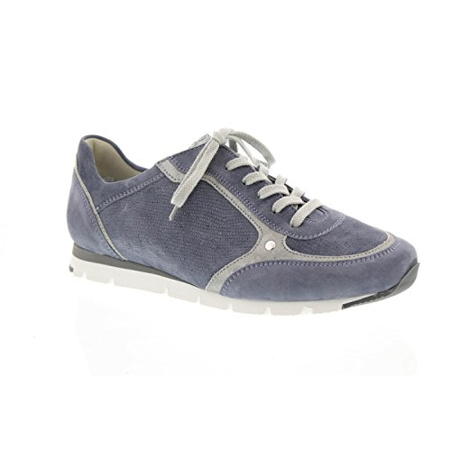 Semler Sneaker Rosa, Samt-chev/glitter/met-vel, Aqua-grigio, R5133-368-704 Aqua-grigio