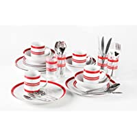 36pezzi Set Bistro, rosso e bianco Stripe Combo: Vendita