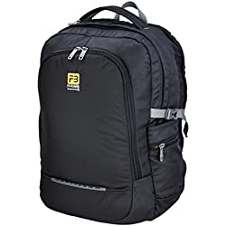 FB Fashion Bags Polyester 42 Ltr Black & Grey Laptop Backpack