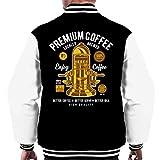 Cloud City 7 Premium Coffee Vintage Machine Men's Varsity Jacket