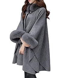 Moda Mujer Chaqueta Casual de Lana Outwear Piel Abrigo Parka Cardigan Capa by Venmo