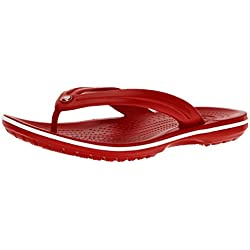Crocs Crocband Flip, Chanclas Unisex Adulto, Rojo (Pepper/White), 37/38 EU