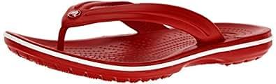 crocs Unisex Crocband Pepper/White Flip Flops Thong Sandals-M10W12(11033-6FT)