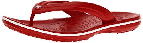 Crocs crocband flip 11033, infradito unisex - adulto, rosso (pepper/white), 45/46 eu