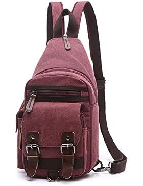 Wewod Reisezubehör Body Bag Crossbag Rucksack schwarz Bodybag Schultertasche Slingpack Kann iPad 1/2/3/4 halten