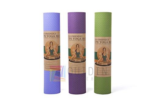 Yoga Mat ejercicio Fitness Workout–Esterilla, antideslizante respetuoso con el medio ambiente de...