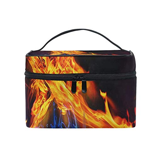 9995b1f5dd2b Sacchetto cosmetico portatile per appendere il trucco,Makeup Bag Fire And  Ice Cosmetic Bag Portable Large Toiletry Bag for Women/Girls Travel