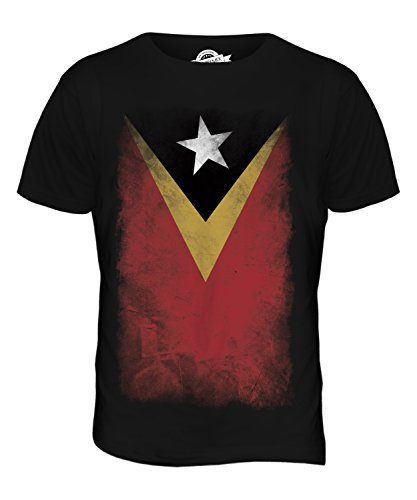 CandyMix Osttimor Verblichen Flagge Herren T Shirt Schwarz