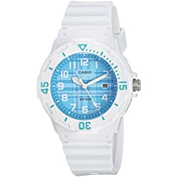 Casio Women's Quartz Stainless Steel and Resin Casual Watch, Color:White (Model: LRW-200H-2CVCF)