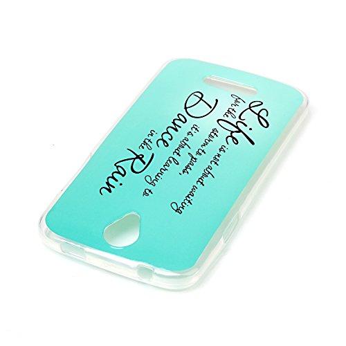 Voguecase® für Apple iPhone 7 Plus 5.5 hülle, Schutzhülle / Case / Cover / Hülle / TPU Gel Skin (Marmor/Schwarz) + Gratis Universal Eingabestift in the rain 03
