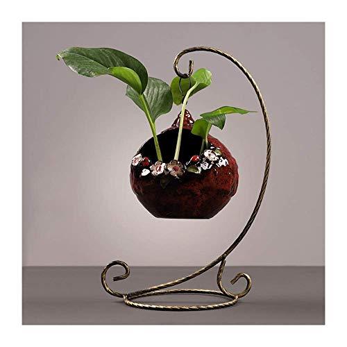 Dekoration FJH Kreative Skulpturen Statue Hängend Grün Wasser Hydrokultur Vase Behälter Wasserpflanze Blumentopf Blumengesteck Blume