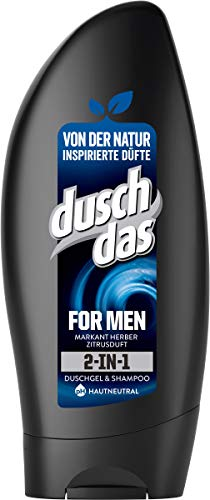 Duschdas 2-in-1 Duschgel & Shampoo, für einen langanhaltenden Duft For Men dermatologisch getestet (6 x 250 ml)