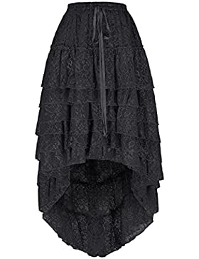 Belle Poque Falda de la falda gótica de la falda de la playa del verano de la falda de la playa de la vendimia...