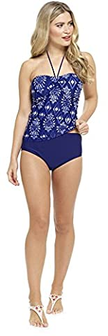 Lora Dora Womens Tankini Set Halter Neck Top + Shorts With Support Control Size UK 10-18