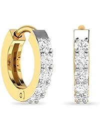 PC Jeweller The Samvedya 18KT Yellow Gold & Diamond Earring